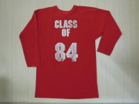 80's UNKNOWN フットボールTシャツ/XL