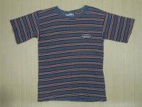 〜90's VISION ボーダーTシャツ/L