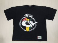 80's stussy Tシャツ/黒タグ/F