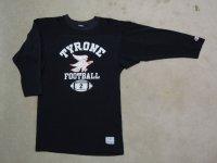 80's CHAMPION フットボールTシャツ/ブラック!/M