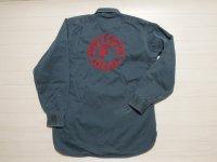 50's Lee コットンワークシャツ/チェーンステッチ刺繍