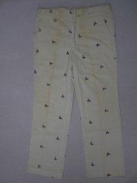 70's 刺繍総柄 コーデュロイパンツ/W37