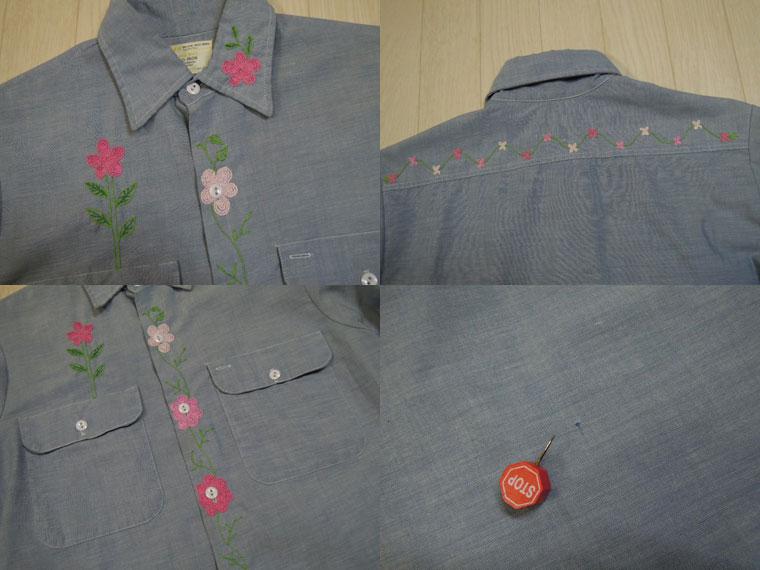 画像4: 70's BIGMAC 刺繍シャンブレーシャツ/S