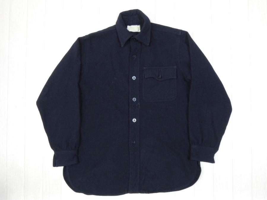 画像1: 40's US NAVY ウールCPOシャツ/片ポケット