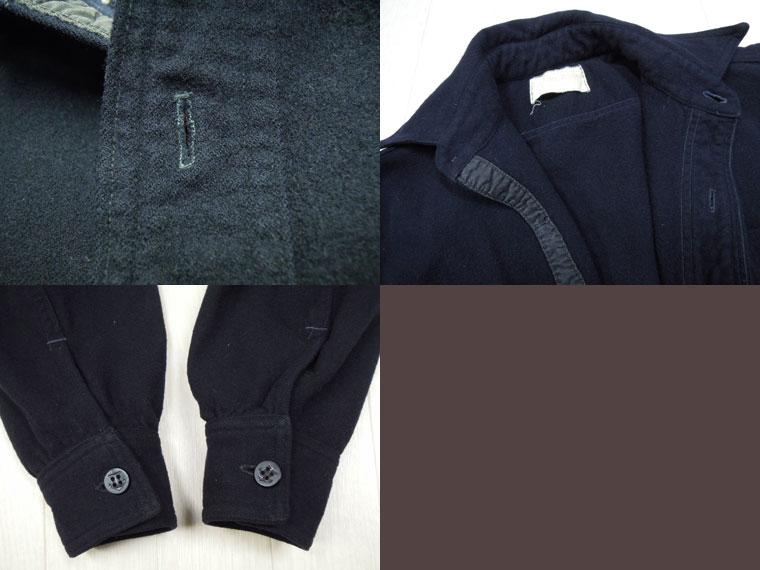 画像4: 40's US NAVY ウールCPOシャツ/片ポケット