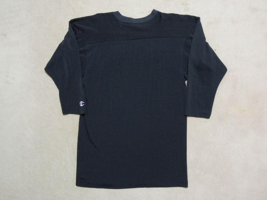 画像2: 80's CHAMPION フットボールTシャツ/ブラック!/M