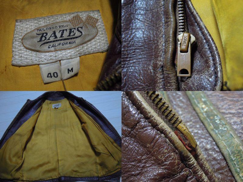 画像3: 60's BATES レザーライダース ジャケット