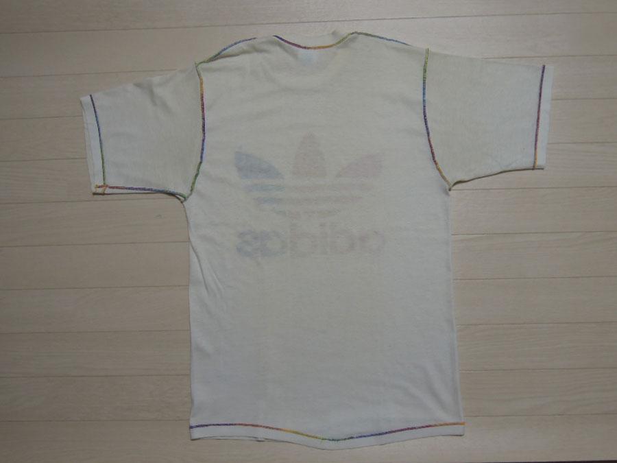 画像2: 80's adidas Tシャツ/レインボー/L