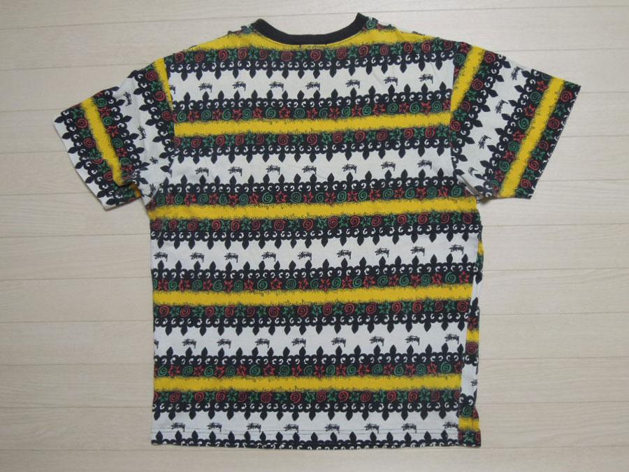 画像2: 80's stussy Tシャツ/黒タグ-USA製/ラスタ/L