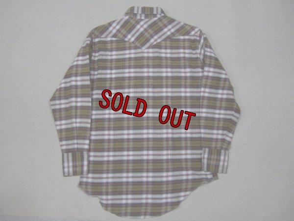 画像2: 70's白タグ USA製 Wrangler ネルウエスタンシャツ/M
