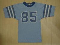 80's STANFIELD'S フットボールTシャツ/染み込み/S
