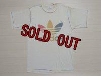 80's adidas Tシャツ/レインボー/L