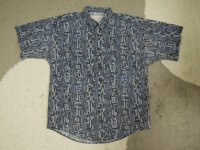 〜90's MAXX 半袖シャツ/USA製-総柄/M