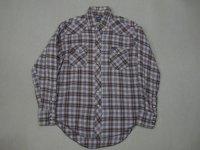 80's USA製 Wrangler ネルウエスタンシャツ/ML