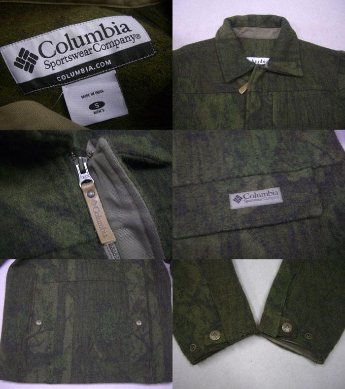 画像3: COLUMBIA 総柄ハンティングWOOLジャケット/S