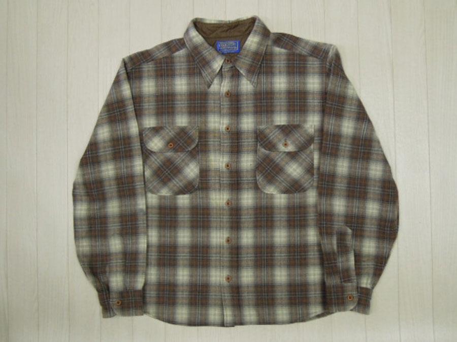 画像1: 70's PENDLETON ウールシャツ/S〜M(リサイズ)
