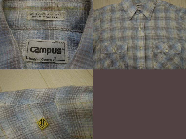 画像3: 〜80's CAMPUS 半袖シャツ/S