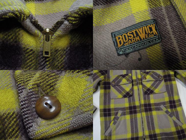 画像3: 〜50's BOSTWICK ウールジャケット/コの字ZIP