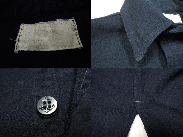 画像3: 40's US NAVY ウールCPOシャツ/片ポケット