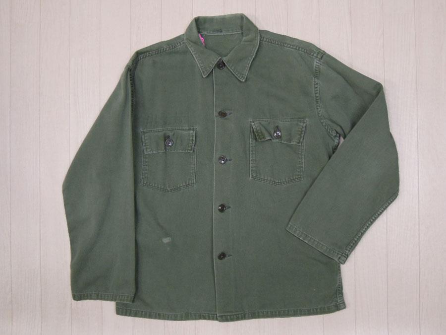 画像1: 〜70's US ARMY ミリタリーシャツ/M