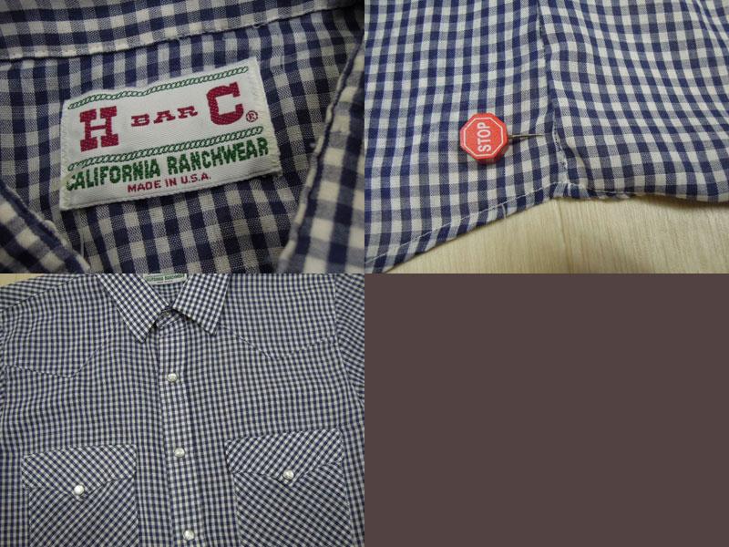画像3: H BAR C 半袖ウエスタンシャツ/S