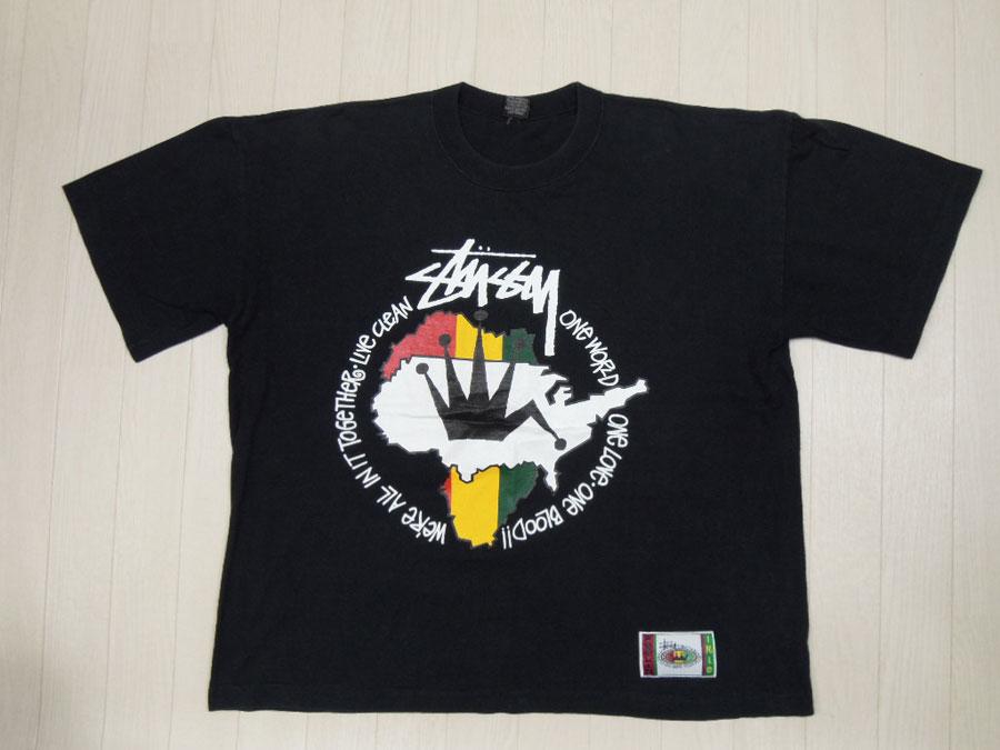 画像1: 80's stussy Tシャツ/黒タグ/F