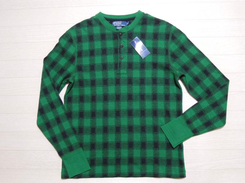 画像1: Polo Ralph Lauren ヘンリー長袖 Tシャツ/DEAD STOCK/M