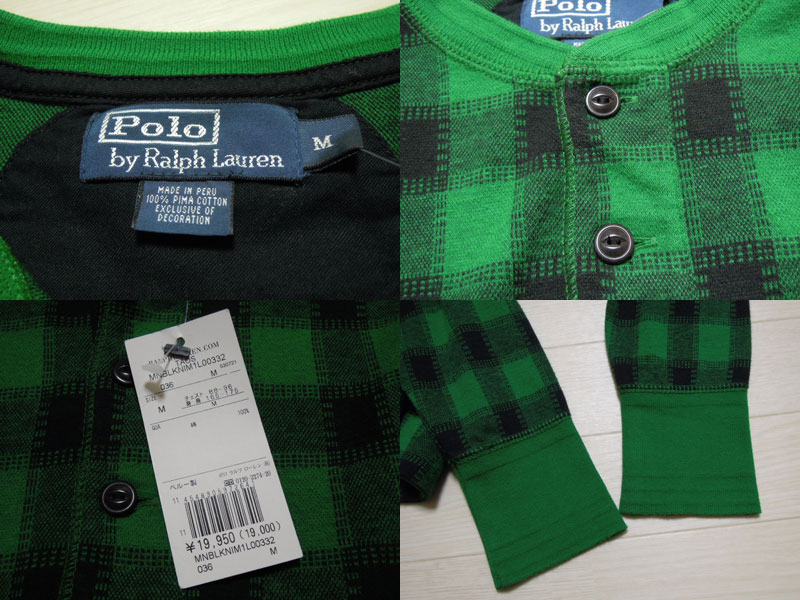 画像3: Polo Ralph Lauren ヘンリー長袖 Tシャツ/DEAD STOCK/M