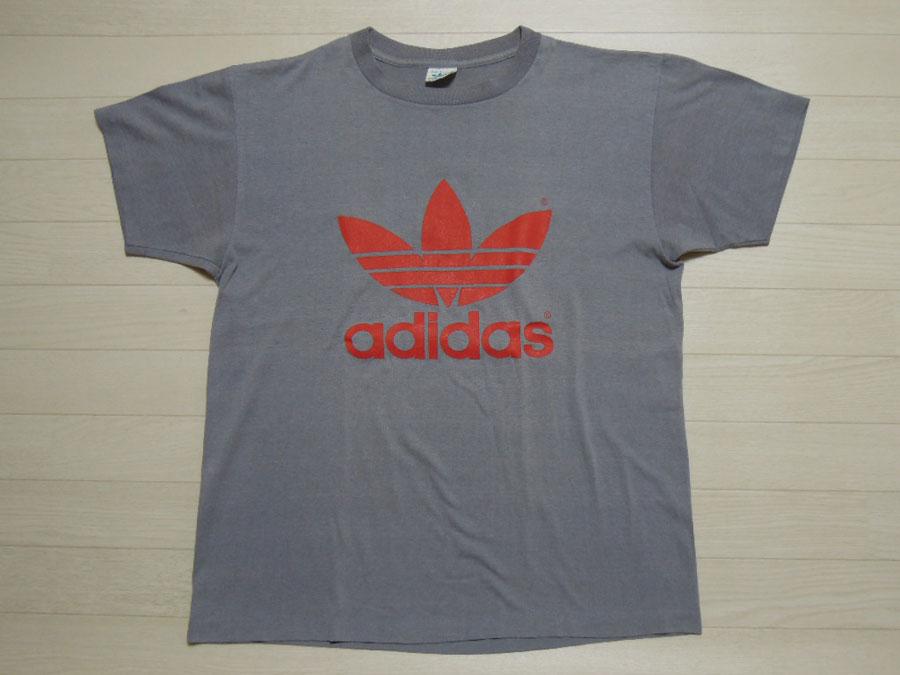 画像1: 80's adidas Tシャツ/USA製/L