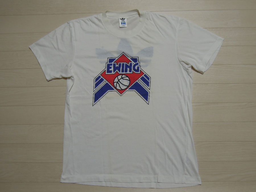 画像1: 80's adidas & EWING Tシャツ/L