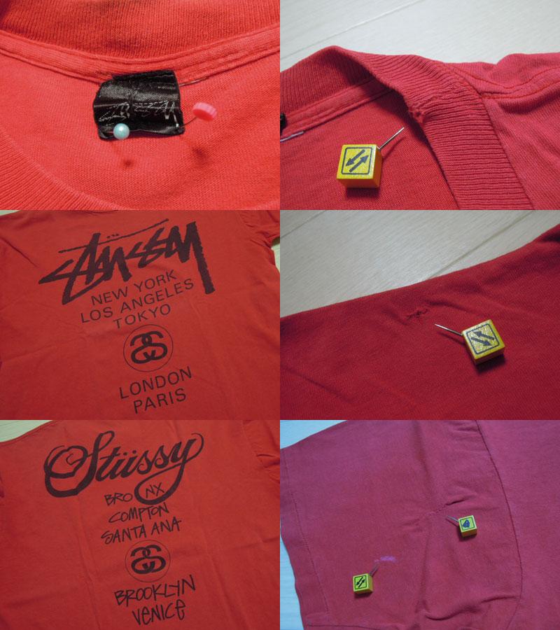 画像3: 80's stussy Tシャツ/黒タグ-USA製/ワールドツアー/XL