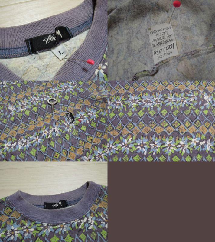 画像3: 80's stussy Tシャツ/黒タグ-USA製/L