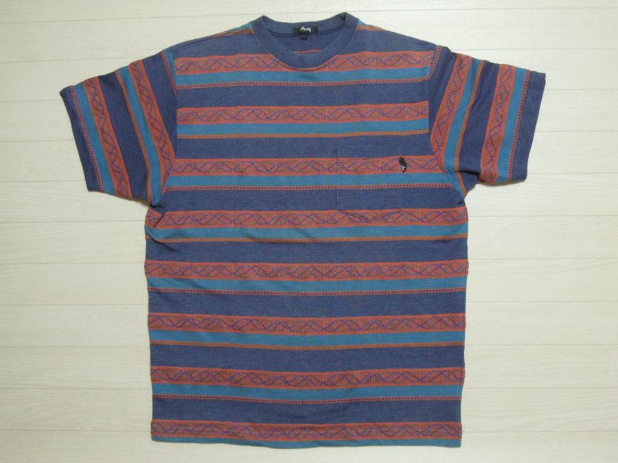 画像1: 80's stussy Tシャツ/黒タグ-USA製/L