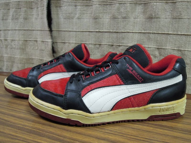 画像1: 80's PUMA THE BEAST Lo/RED FUR/9