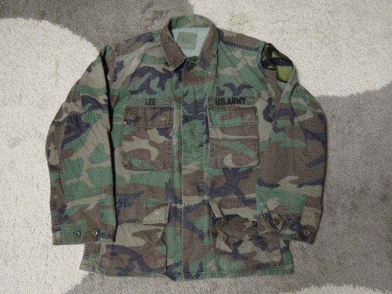 画像1: 80's US ARMY ファティーグジャケット/S