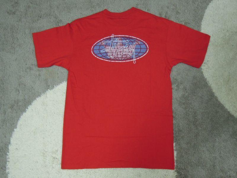 画像1: 〜00's stussy Tシャツ/紺タグ-USA製/L