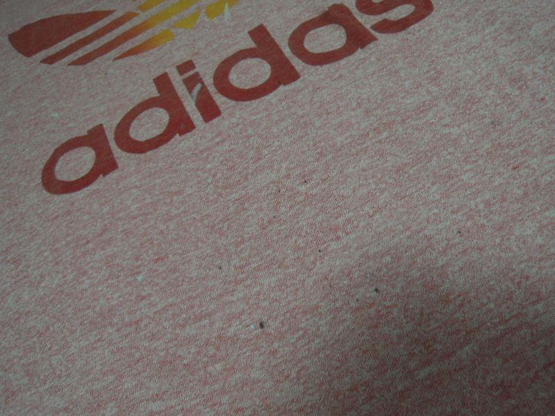 画像5: 80's adidas Tシャツ/霜降り&レインボー/L