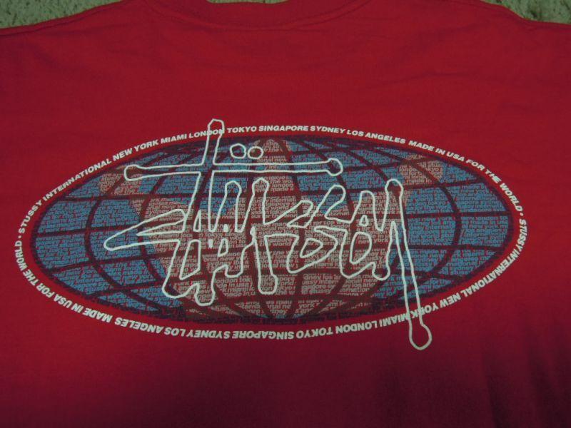画像4: 〜00's stussy Tシャツ/紺タグ-USA製/L