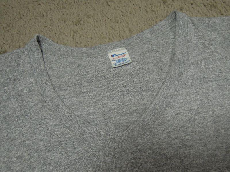 画像5: 80's CHAMPION Tシャツ/88-12/Vネック/染み込みプリント/XL
