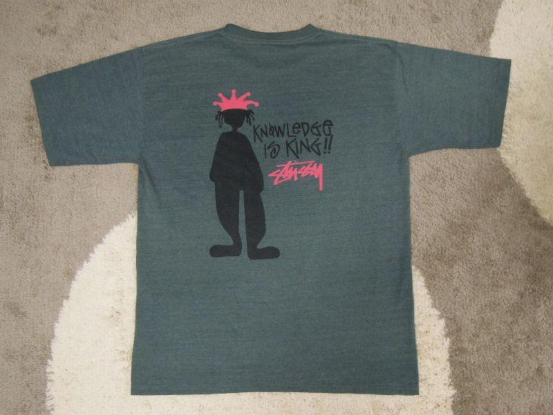 画像1: 80's stussy Tシャツ/白タグ-USA製/ブート品/珍色/L〜XL