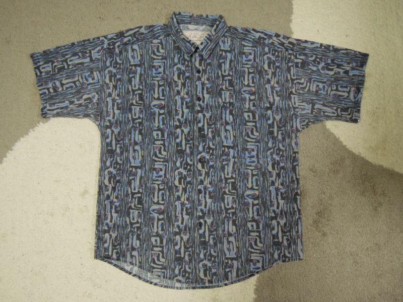 画像1: 〜90's MAXX 半袖シャツ/USA製-総柄/M