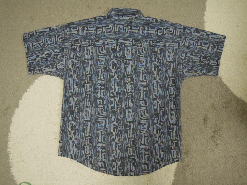 画像2: 〜90's MAXX 半袖シャツ/USA製-総柄/M