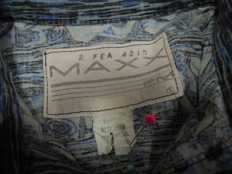画像3: 〜90's MAXX 半袖シャツ/USA製-総柄/M
