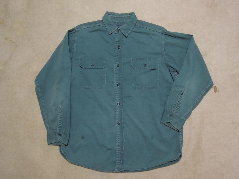 画像1: 〜60's BIG YANK コットンシャツ/マチ付/〜L