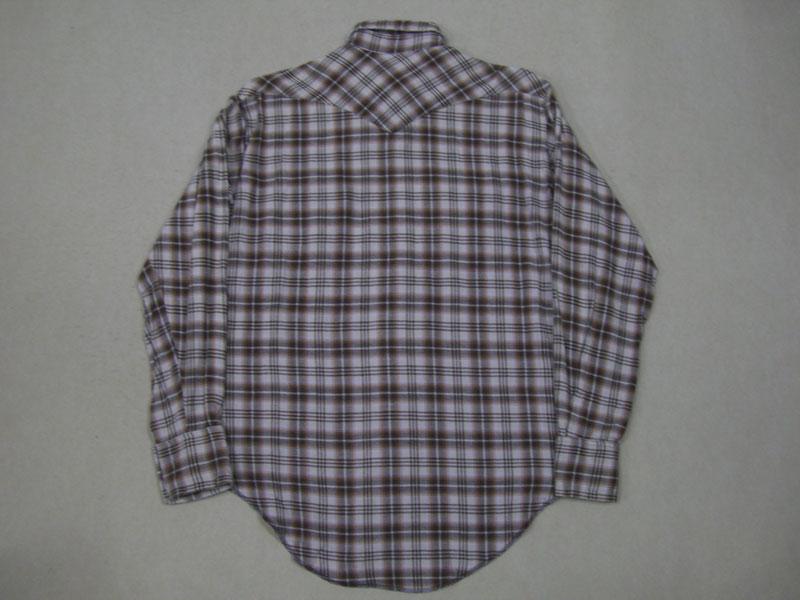 画像2: 80's USA製 Wrangler ネルウエスタンシャツ/ML