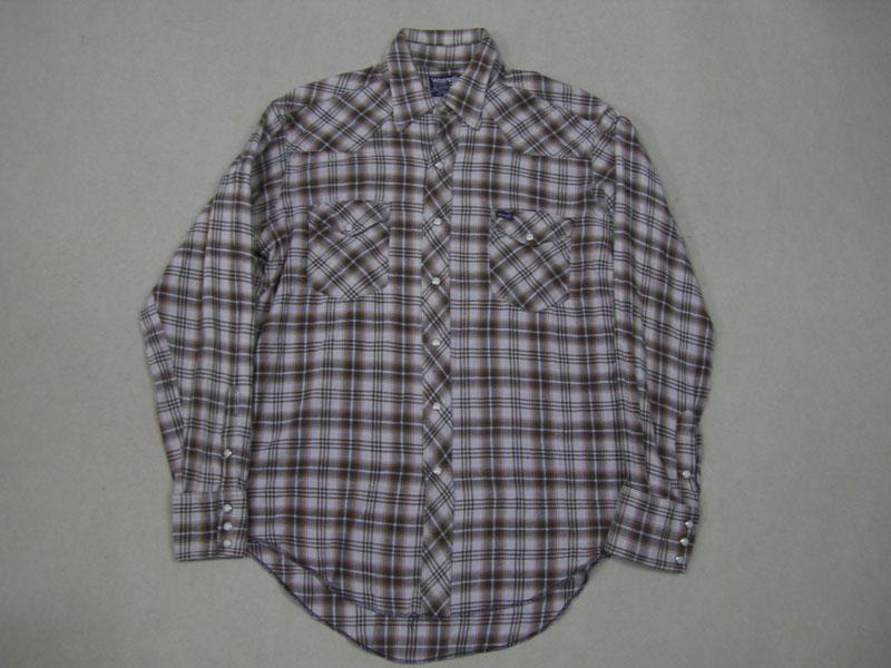 画像1: 80's USA製 Wrangler ネルウエスタンシャツ/ML
