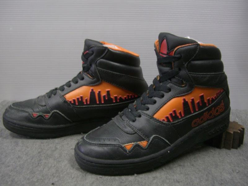 画像1: 80's adidas CITY LINE Hi/珍色黒ベース/5