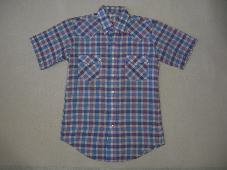 画像1: 〜80's T.I,T,SDDLE ウエスタン半袖シャツ/M