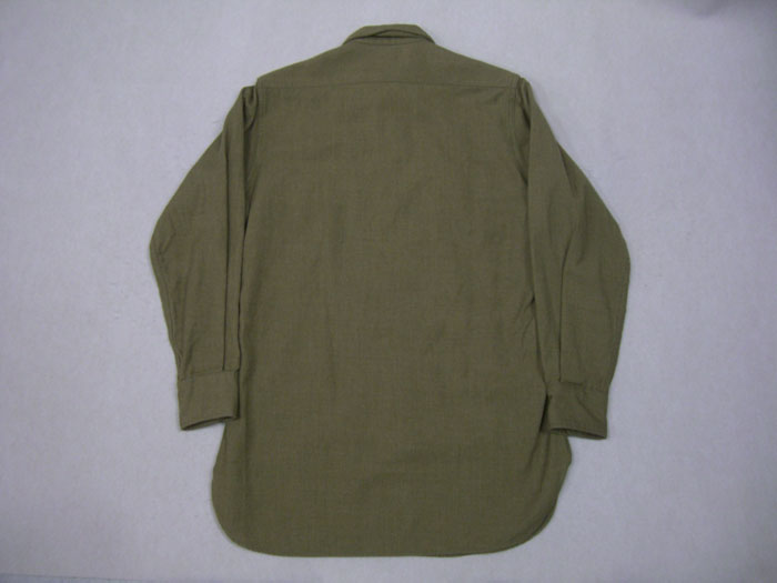 画像2: 〜50's US ARMY ウール長袖シャツ/マチ付/14ハーフ