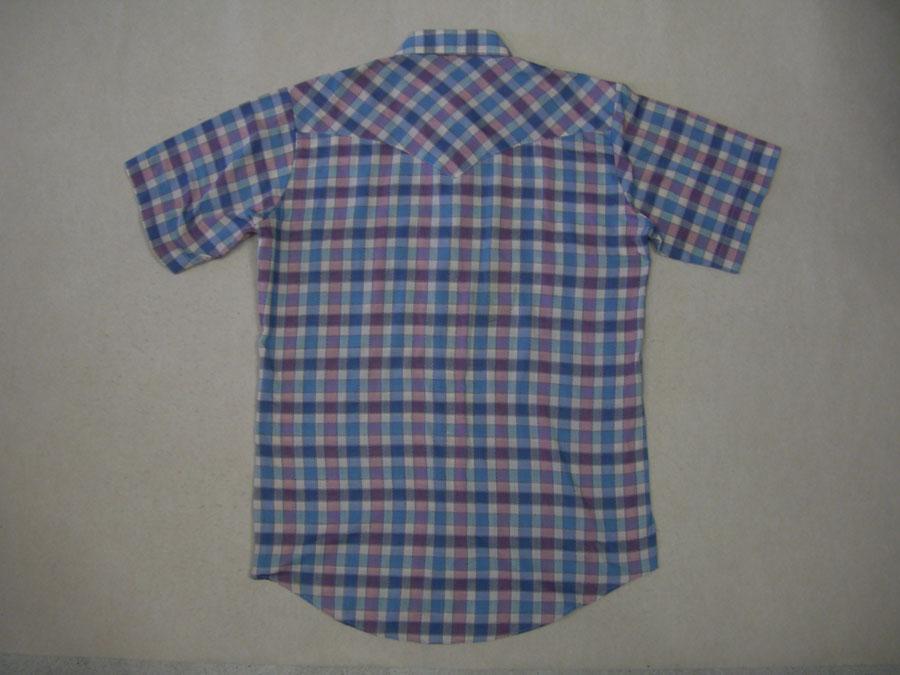画像2: 〜80's T.I,T,SDDLE ウエスタン半袖シャツ/M